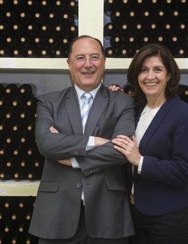 Con mi mujer Esperanza Castro