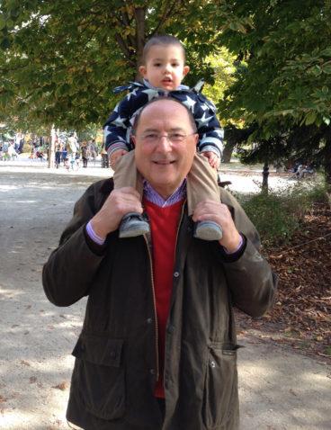 Con mi nieto Arturo