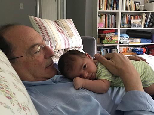 Con mi nieto Rodrigo