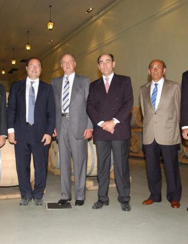 El Rey D. Juan Carlos I en su primera visita a bodega Matarromera (2)