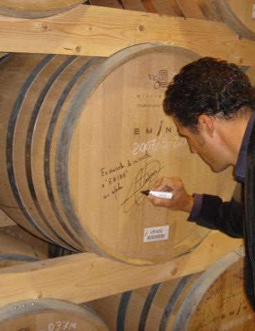 Miguel Indurain visitó Bodega Matarromera